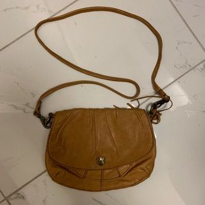 Lucky Brand Lambskin Tan Crossbody Purse